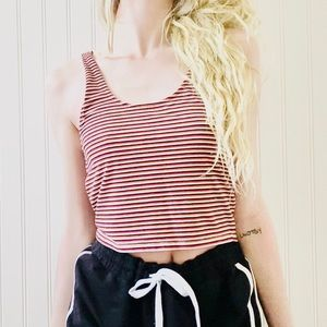 FOREVER 21 Striped Multicolor Tank Crop Top